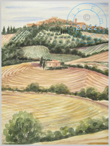 Hill top village in Tuscany