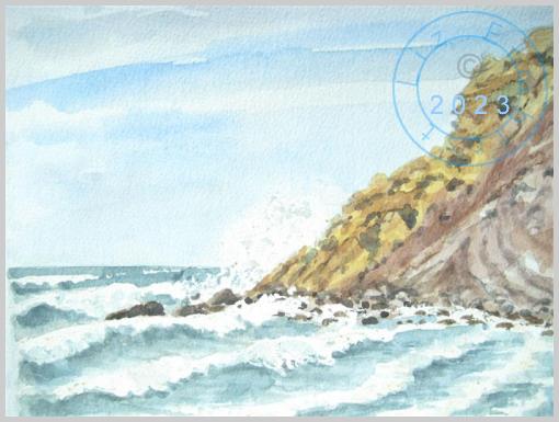 Sea and cliffs, Devon