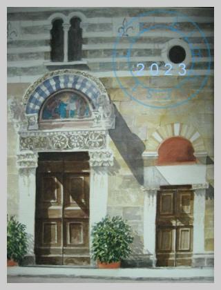 Church doors, Lucca, Italy