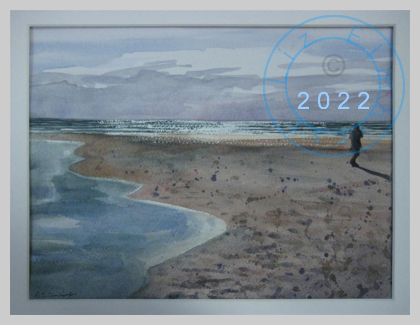 Figure on beach