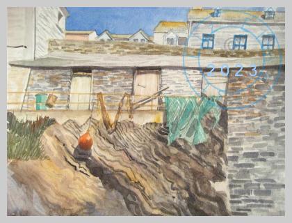 Fishing nets, Port Isaac, Cornwall