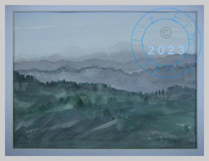 An Italian misty landscape