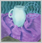 Jug on purple fabric